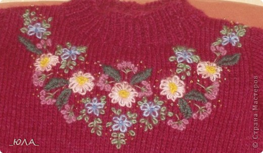 вышивка по вязанному полотну записи в рубрике вышивка по вязанному