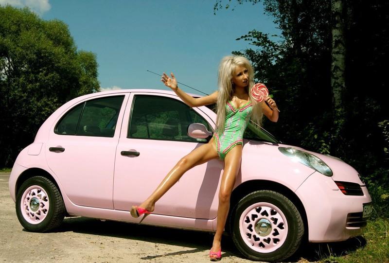Новая машинка девушка, дневник, машина