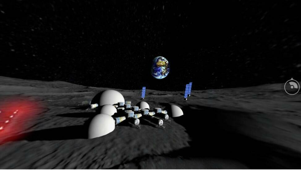 Лунная база в представлении инженеров КБ Южное