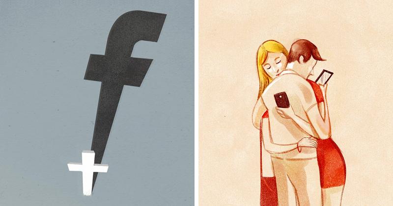 Печальная правда о современном мире в иллюстрациях Марко Мелграти