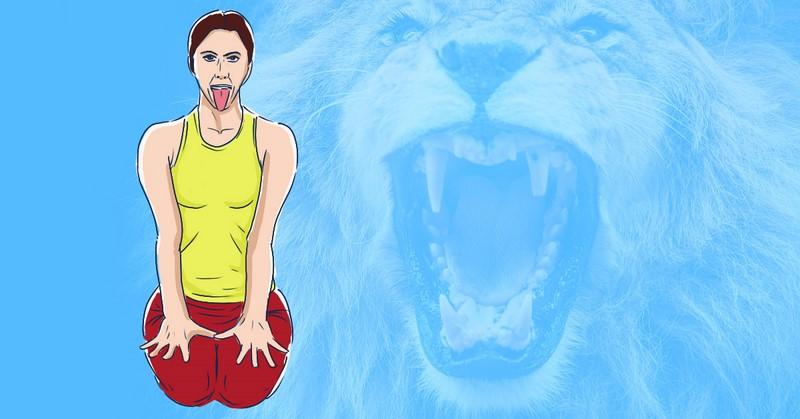 упражнение лев для горла