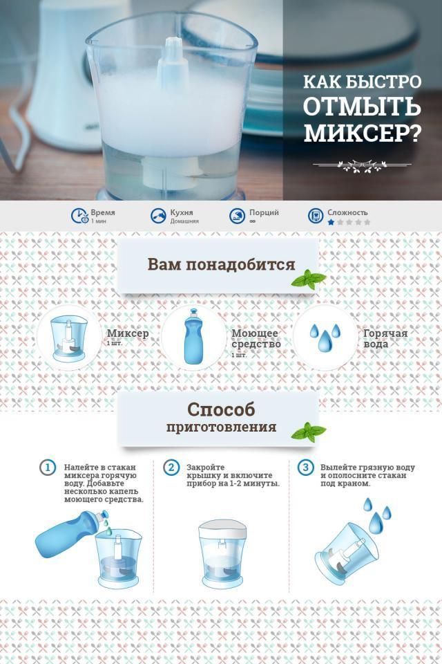 как мыть миксер