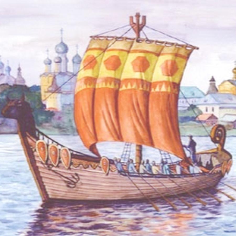 Славянские лодки картинки