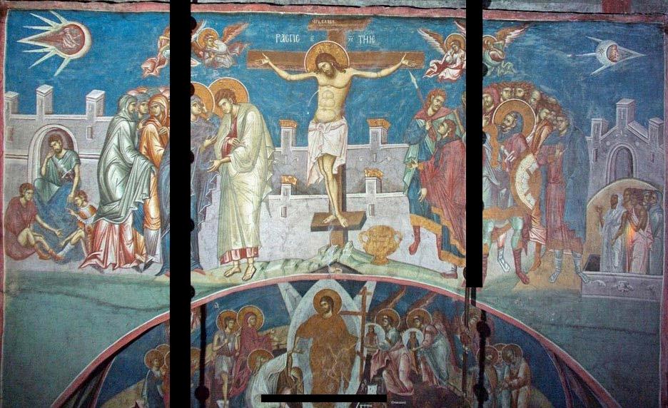 НЛО над распятием Христа?