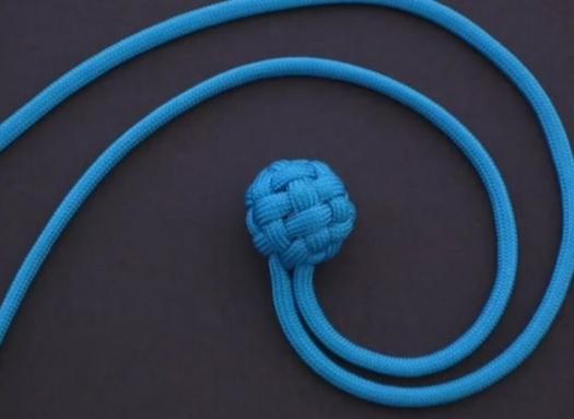 Картинка как завязать узелок в виде шарика