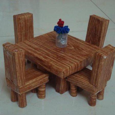 Игрушечная мебель из коробков