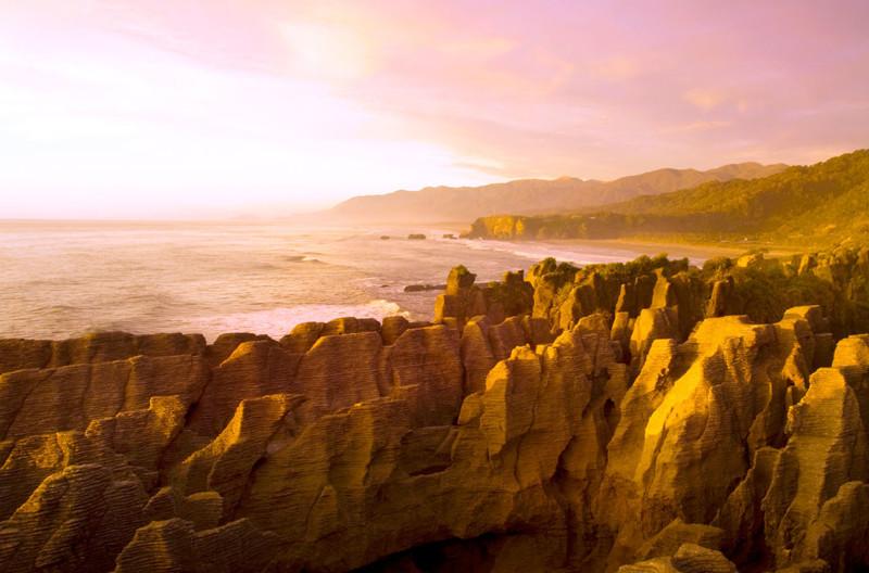Блинные скалы, Новая Зеландия в мире, красота, пейзажи, планета