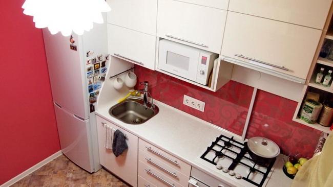 Кухни 9 кв метров дизайн прямые