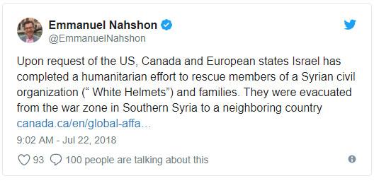 Израиль эвакуировал из Сирии активистов