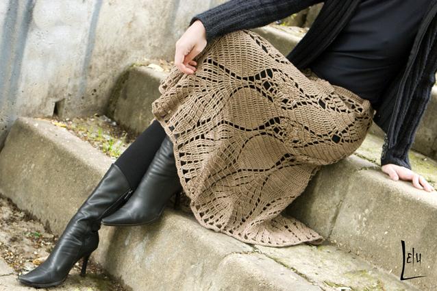Оригинальная юбка крючком. Схемы