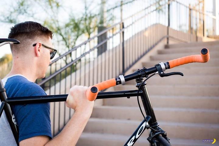 Гениальная противоугонка для велосипеда