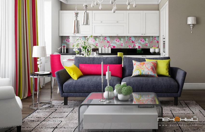 кухня столовая гостиная фото дизайн