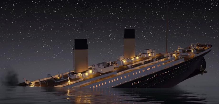 Анимационное видео катастрофы «Титаника» в реальном времени!