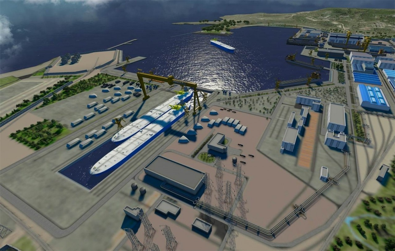 На судостроительном комплексе «Звезда» начато строительство самого большого сухого дока в России