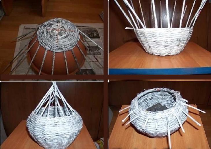Плетение коробок из газетных трубочек для начинающих