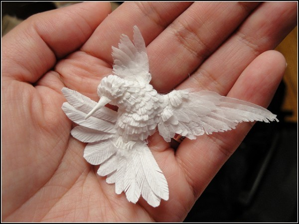 Бумажные колибри от Чон-ах