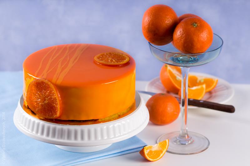 bolo de sorvete de laranja