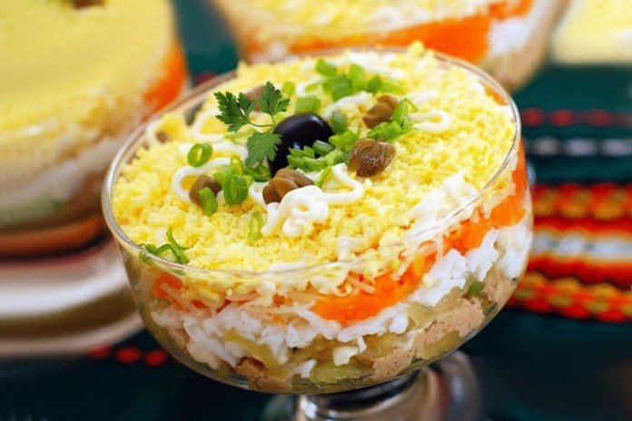 В копилку праздничных рецептов — салат «Роскошный»