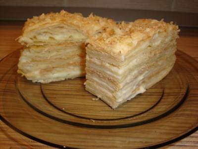 Наполеон торт с заварным кремом с фото