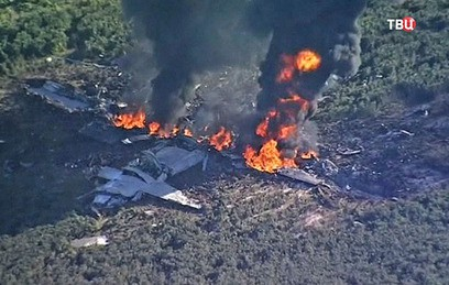 При крушении военного самолета в США погибли 16 человек