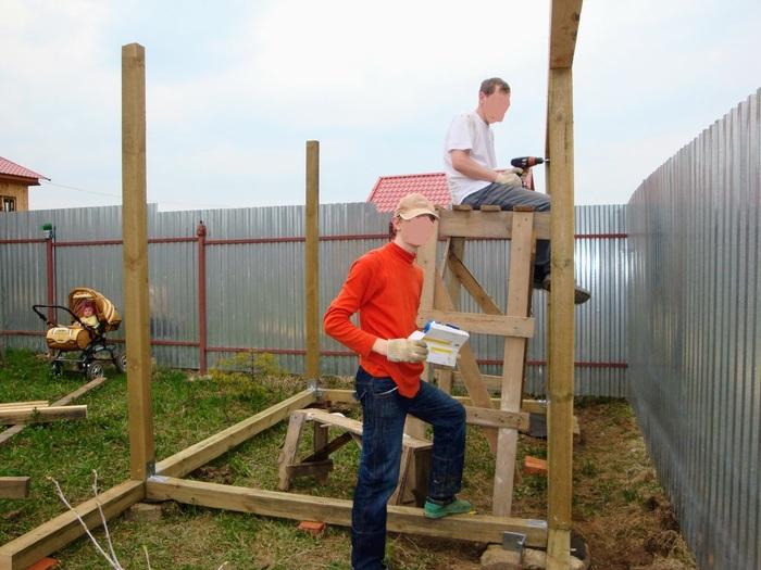 Тяп-ляп и домик для лопат готов