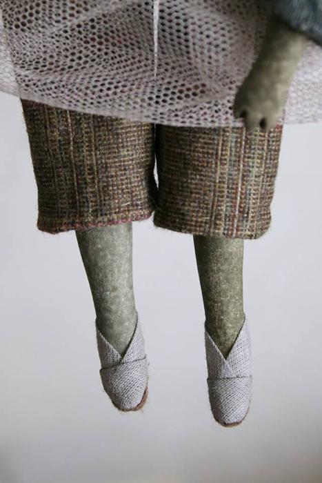 Деталь одной из куклы. Авторские куклы Марины Глебовой.