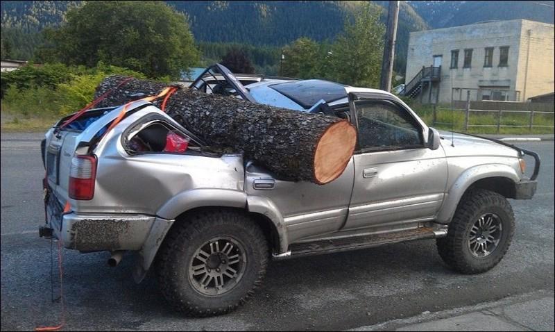 У американцев свой способ ездить за дровами