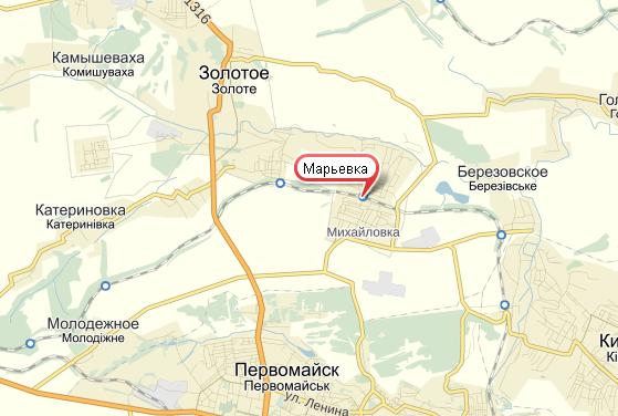 Жертвы обстрелов Марьевки