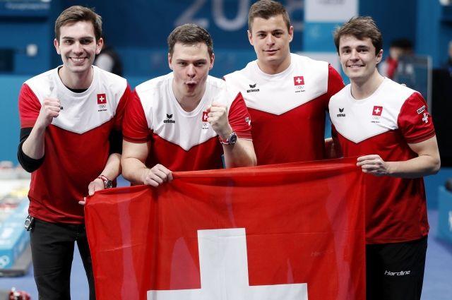 Мужская сборная Швейцарии по керлингу выиграла бронзу на Олимпиаде
