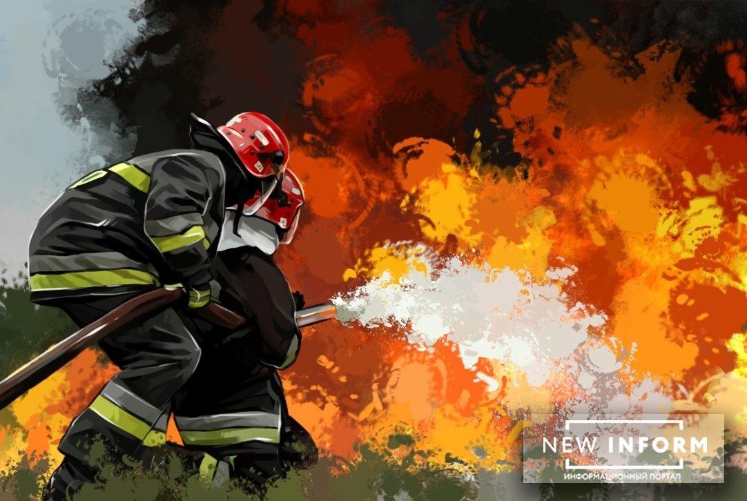 В одном из зданий Минобороны Украины произошел мощный пожар