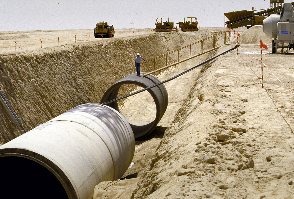 Pipes from the The Libyan Great Man-Made River project.