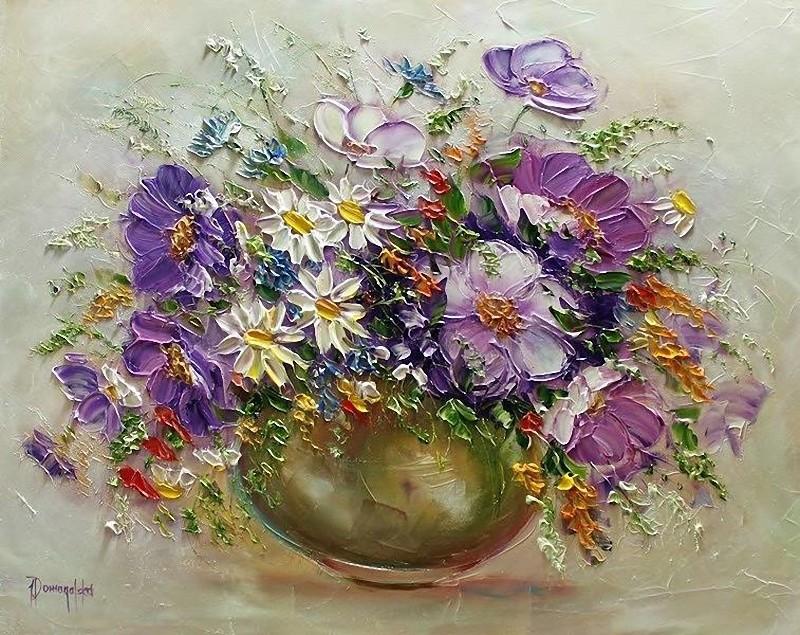 Цветные,летние букеты, И брызги радуги цветной. Joanna Domagalska