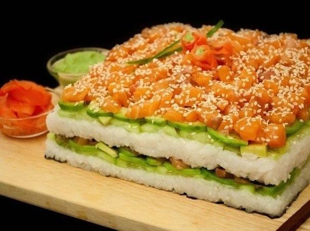 Суши-торт. Альтернатива роллам