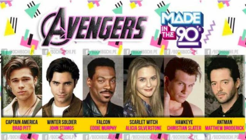 Как бы выглядели «Мстители», если бы их сняли в 90-е