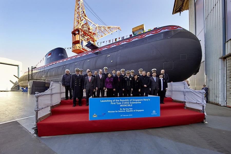 Спущена на воду первая сингапурская подводная лодка германского проекта 218SG