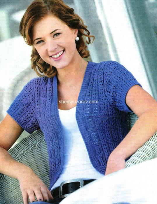 Вязание спицами. Болеро для женщин.