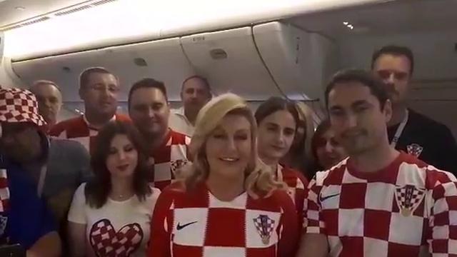 Президент Хорватии обратилась к российским болельщикам