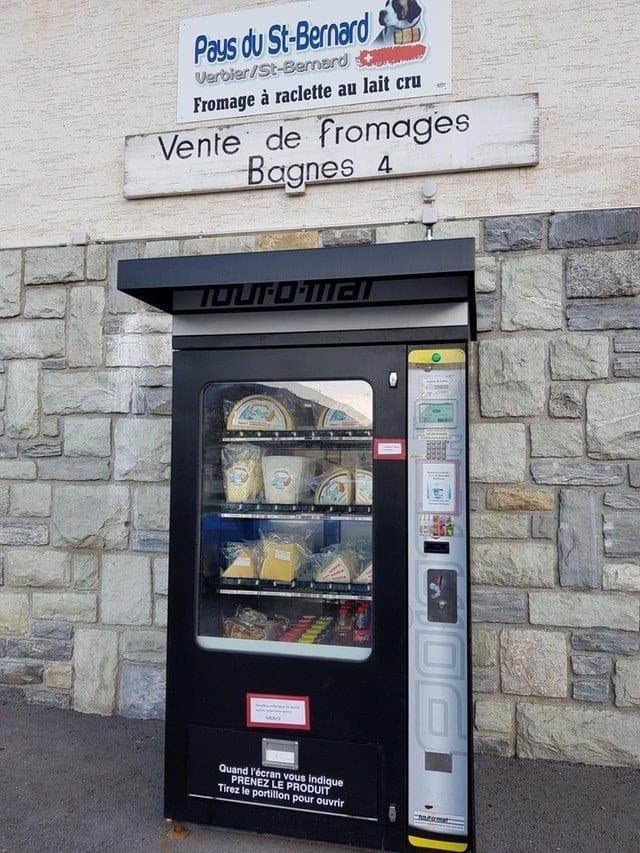 20. И финальным аккордом - торговый автомат по продаже сыра. Отличного швейцарского сыра! Вендинговые автоматы, С миру по нитке, вендинговый аппарат, вот это да!, до чего техника дошла, познавательно, торговые автоматы, торговый автомат