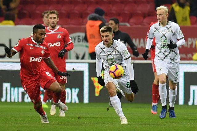 «Локомотив» сыграл вничью с «Рубином» в матче 14-го тура РПЛ