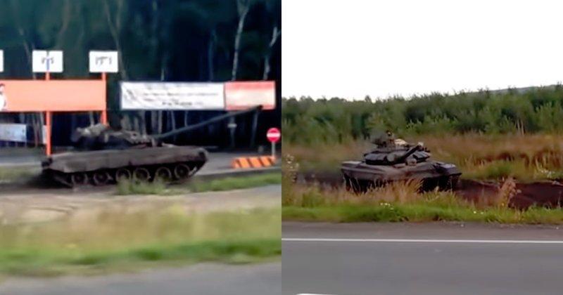 Эффектная погоня танков по бездорожью удивила пользователей сети