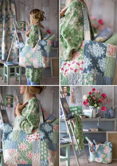 Пляжные сумки из лоскутов