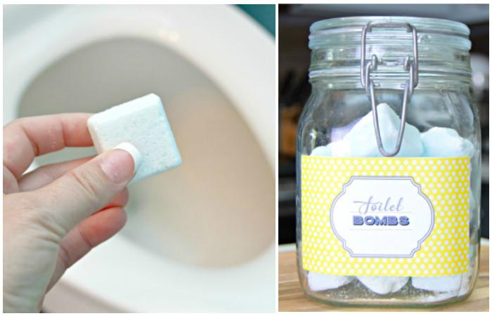 Как сделать «бомбочки» для очистки и освежения туалета: Операция «чистые руки»