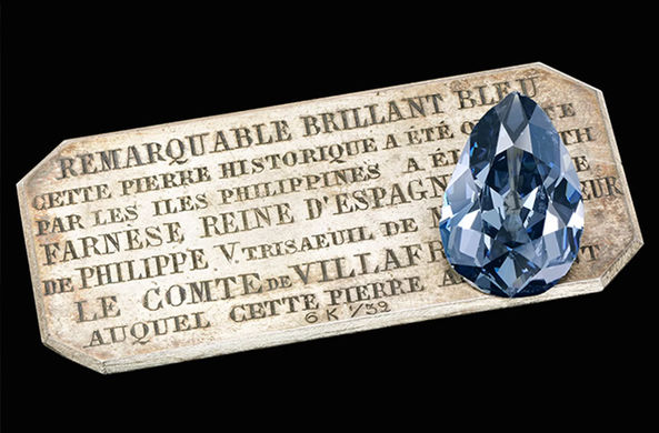 Уникальный голубой бриллиант продадут на аукционе