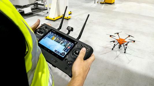 На заводе Ford стали летать дроны!