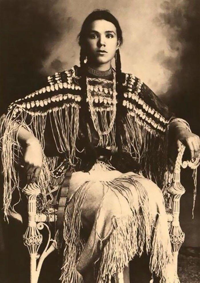 Гертруда Три Фингер, Шайенн, 1869-1904, дочь вождя чероки женщины, индейцы, красота, племена, прерии