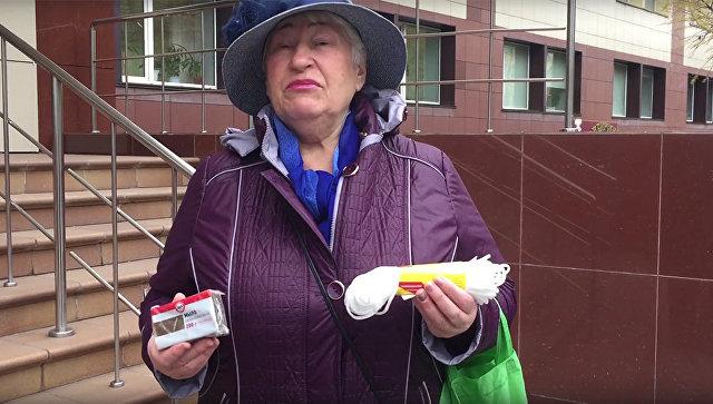 В Сибири пенсионерка передала министру «подарки» на 89 рублей прибавки:веревку и мыло