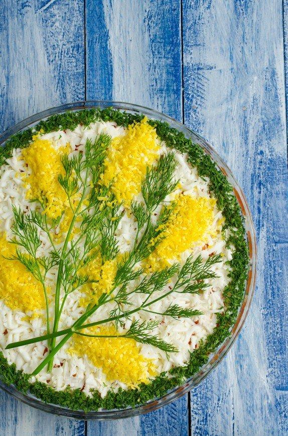Советская мимоза салат