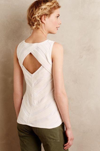 Красивые спинки на блузах и платьях