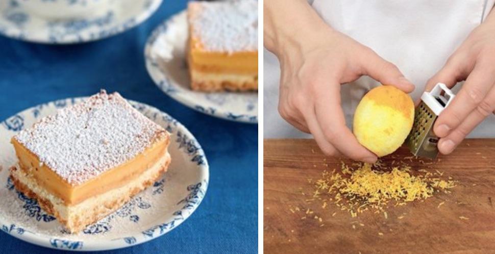 Такой воздушный пирог получился: Лимонные пирожные