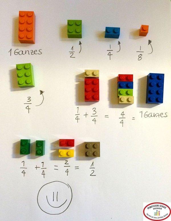 """Как объяснить ребёнку дроби с помощью """"Лего"""""""